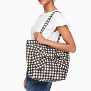 Kate Spade On Purpose Canvas Tote - Black Gingham